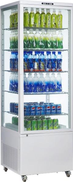 4 Side Glass Display Refrigerator