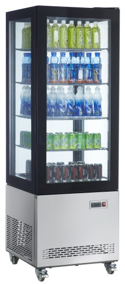 4 Side Glass Display Refrigerator(Double Glass)