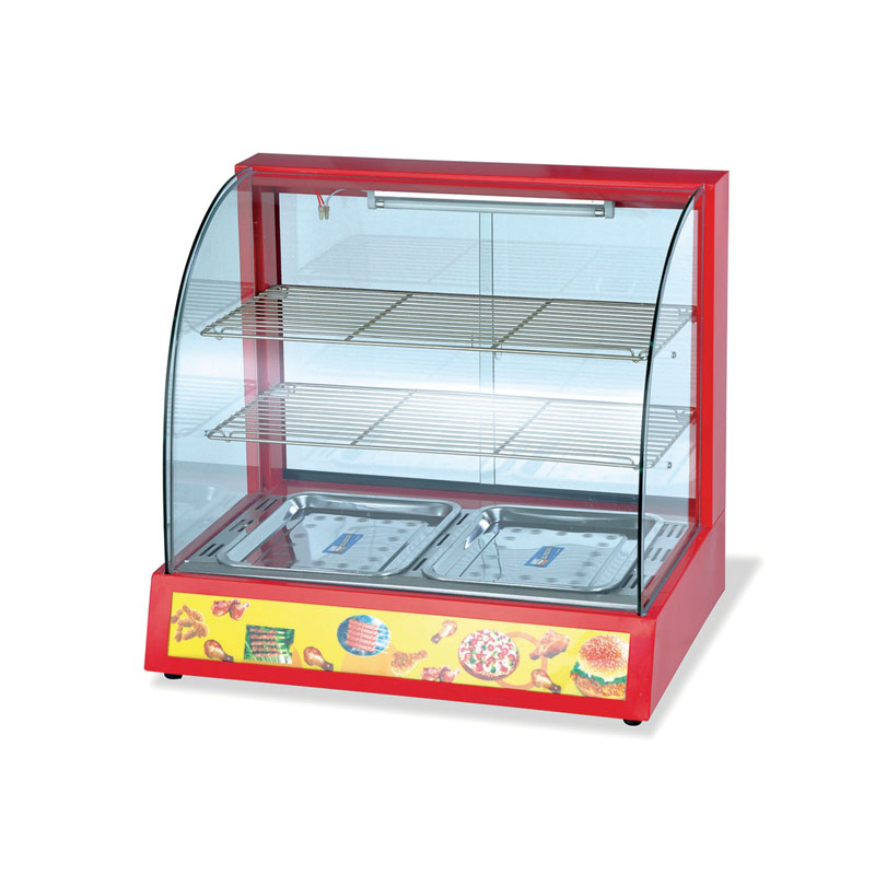 Commercial Curved Glass Hot Food Display Warmer FW-3